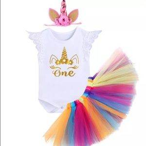Other - Unicorn boutique first bday set !